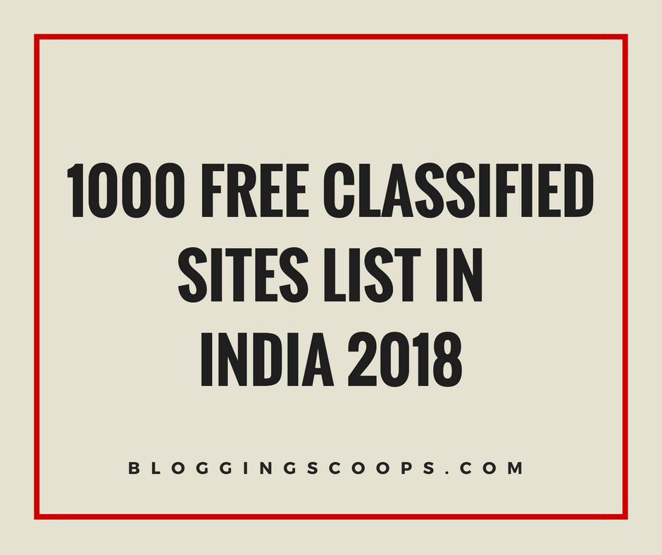 1000+ Free Classified Sites Lists {Updated 2019}