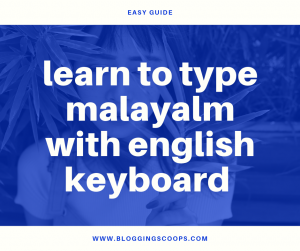 learn to type malayalam with english keyboard